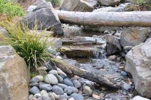natural water feature landscape installation