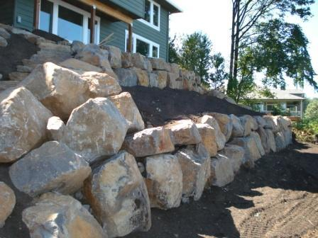 Terraced Plant Bed Retaining Wall