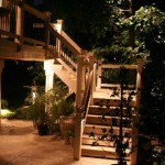 outdoor lighting - deck stairs-editing