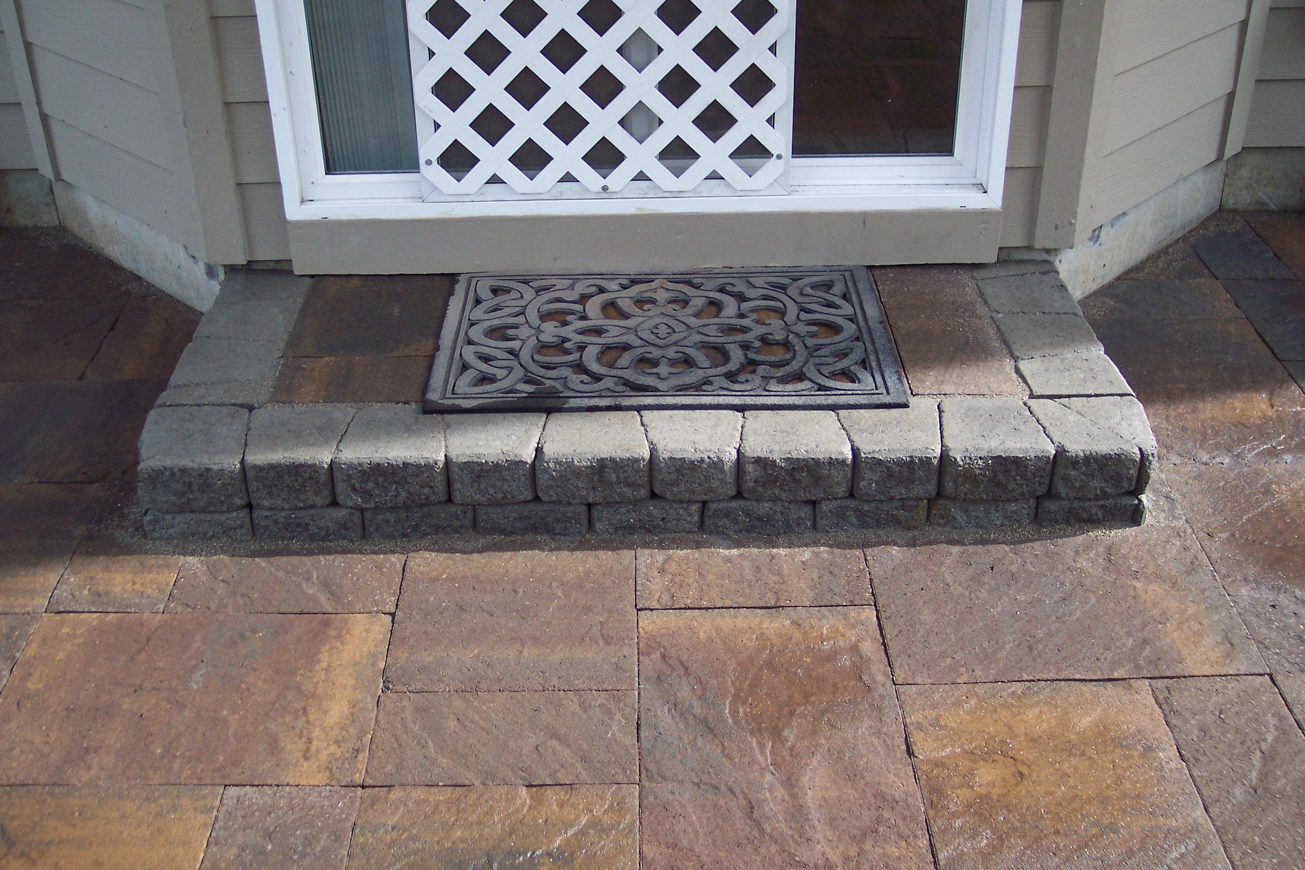 Back door stone step
