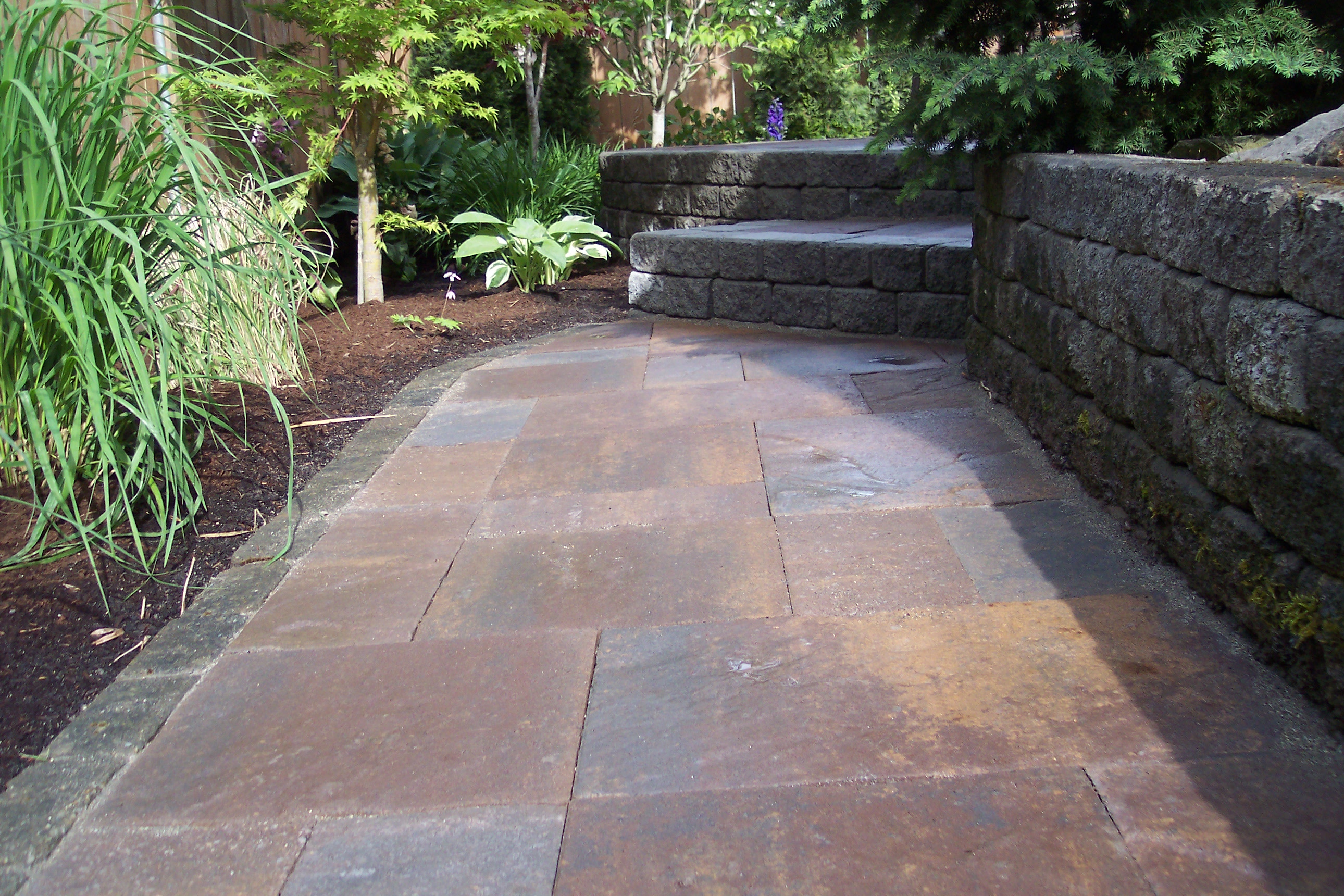 Back patio stonework